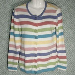 The Tog Shop Pastel Striped Cardigan